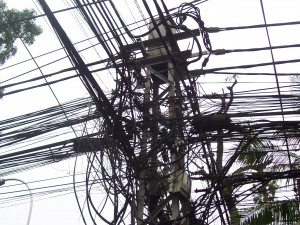 Some of the power lines in Ho Chi Minh City.