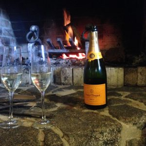 Veuve by the fire 1