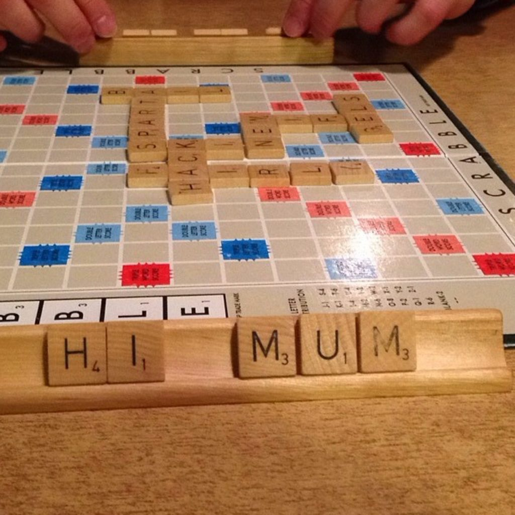One of our favourite board games: Scrabble.