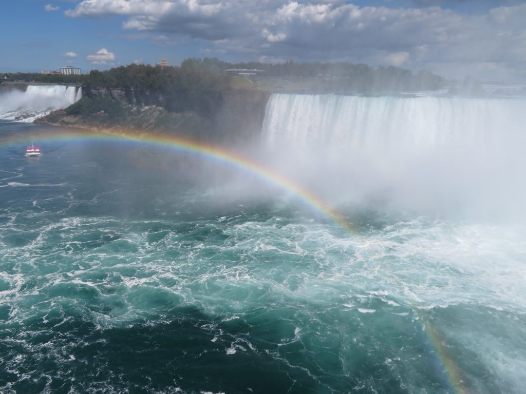 The Canadian side of the falls. Poopsie even managed to capture a rainbow.