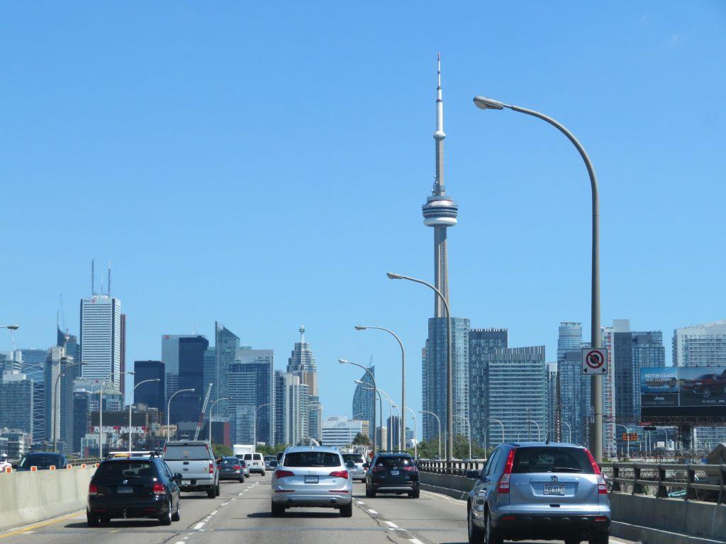 Driving into Toronto.